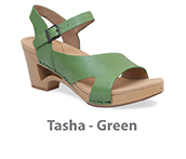 Tasha Green Veg Tan Leather