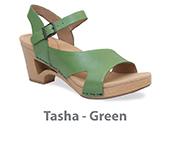 Tasha Green Veg Tan Leather