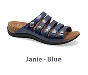 Janie Blue Patent Leather