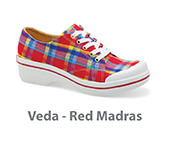 Veda Red Madras Canvas