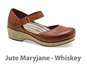 Jute Maryjane Whiskey Burnished Full Grain Leather