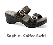 Sophie Coffee Swirl Leather