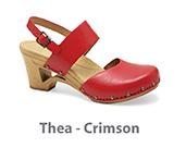 Thea Crimson Veg Tan Leather