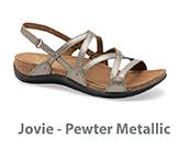 Jovie Pewter Metallic Leather
