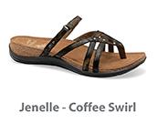 Jenelle Coffee Swirl Leather