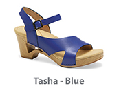 Tasha Blue Veg Tan Leather