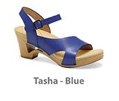 Tasha Blue Veg Tan Leather