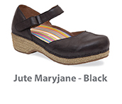 Jute Maryjane Black Full Grain Leather