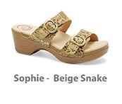 Sophie Beige Snake Leather