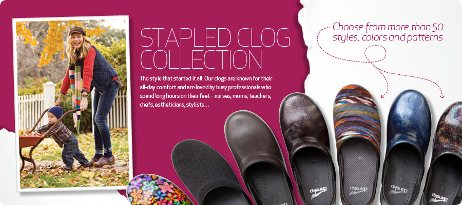 Stapled Clog Collection