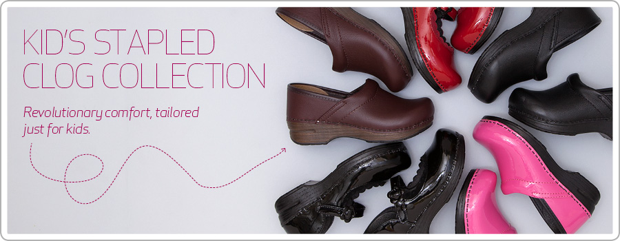 Kids Stapled Clog Collection