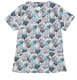 Gwen Teal Etching Printed Cotton