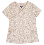 Gwen Lily Khaki Printed Cotton
