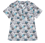 Gloria Teal Etching Printed Cotton