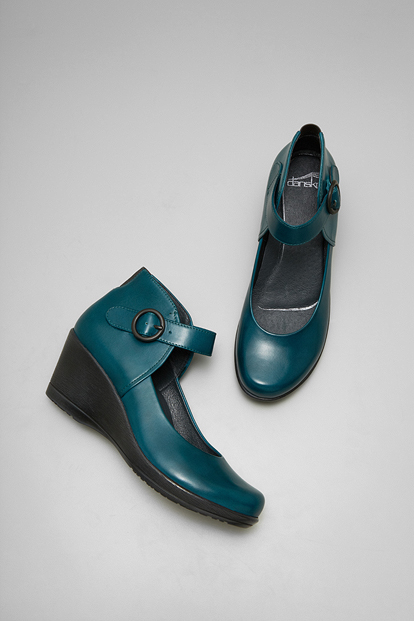 Rebel Teal Burnished Nappa from the Naples