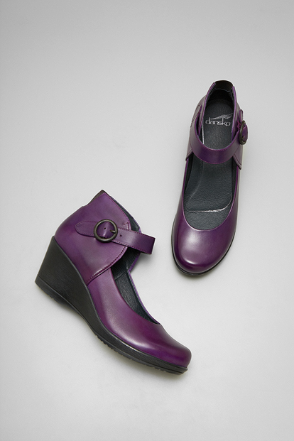 Rebel Purple Burnished Nappa from the Naples