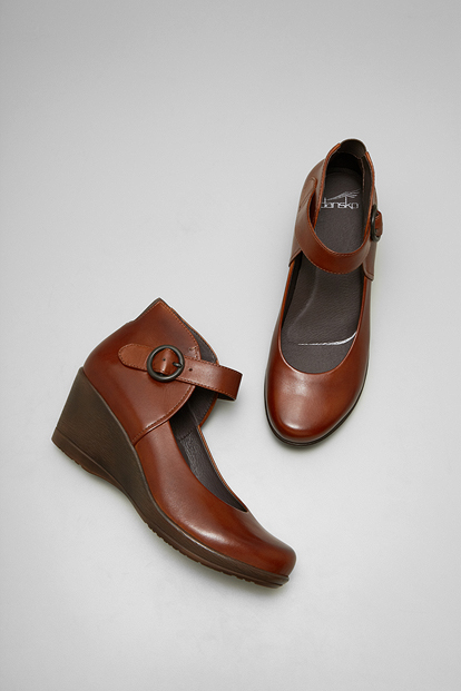 Rebel Brown Burnished Nappa from the Naples