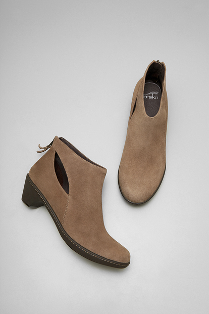 Bonita Taupe Kid Suede from the Barcelona