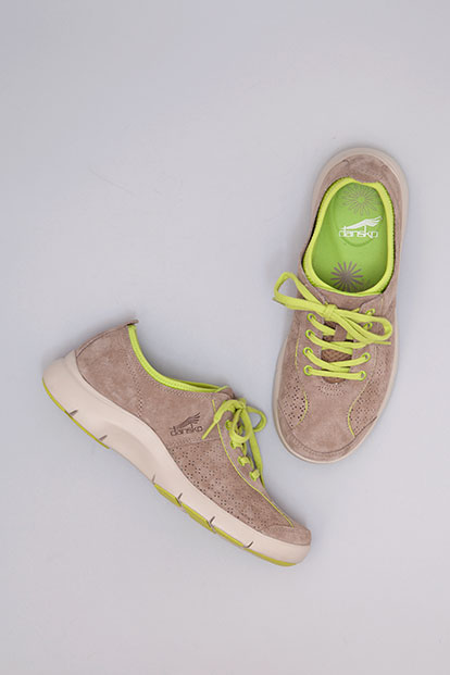 Elise Mocha Lime Suede from the Sedona