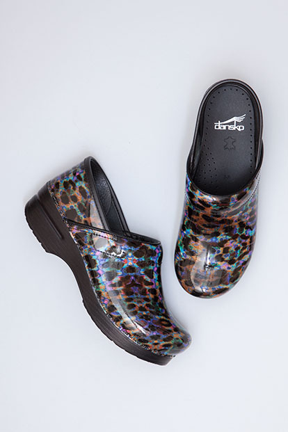 Professional Leopard Multi Patent from the Stapled Clog