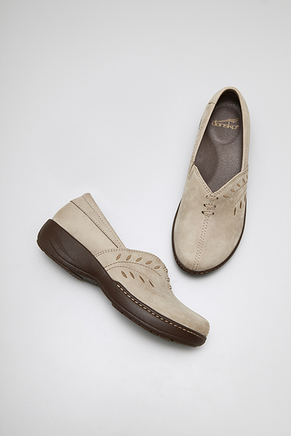 Abigail Taupe Brown Nubuck from the Sonoma