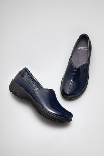 Abigail Navy Crinkle Patent from the Sonoma