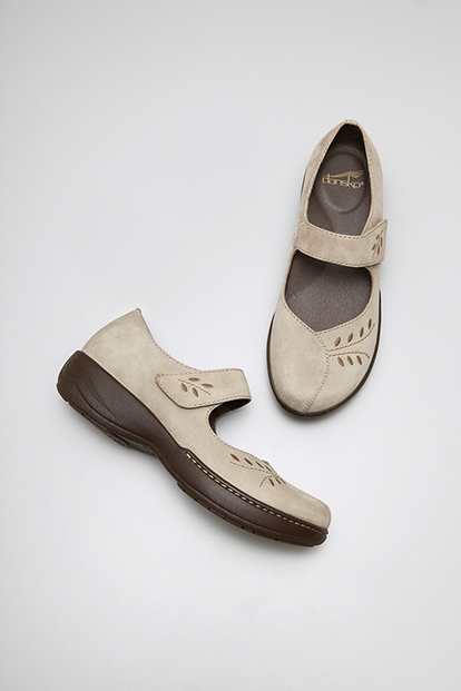 Annie Taupe Brown Nubuck from the Sonoma