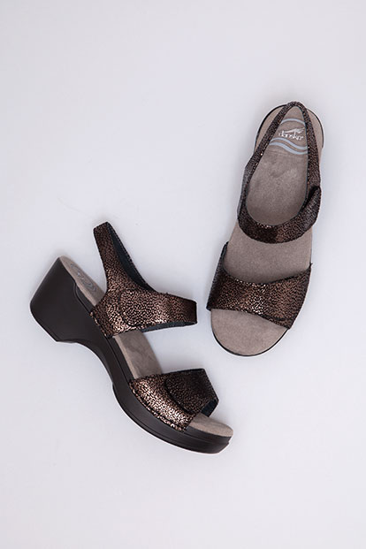 Sonnet Black Shimmer Suede from the Sausalito
