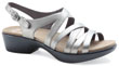Dani Pewter Metallic Leather