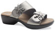 Donna Pewter Metallic Leather