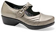 Ainsley Pewter Metallic Leather