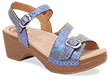 Sandi Iridescent Blue Shagreen