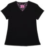 Gwen Black Stretch Woven a Tops from the Healthcare collection.