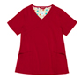 Gwen Red Stretch Woven a Tops from the Healthcare collection.