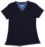 Gwen Navy Stretch Woven a Tops from the Healthcare collection.
