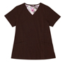 Gwen Chocolate Stretch Woven a Tops from the Healthcare collection.