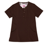Gilda Chocolate Stretch Woven a Tops from the Healthcare collection.