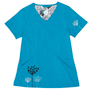 Greta Teal Stretch Woven a Tops from the Healthcare collection.