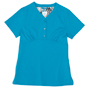Gloria Teal Stretch Woven a Tops from the Healthcare collection.