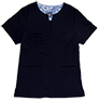 Gillian Navy Stretch Woven a Tops from the Healthcare collection.