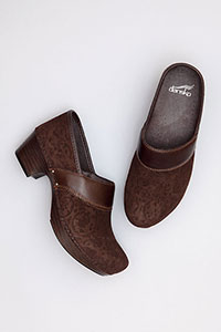 Prima Brown Floral Leather
