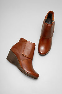 Romy Brown Burnished Nappa