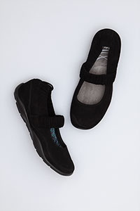 Chrissy Black Kid Suede