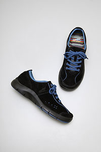Elise Black Blue Suede