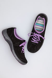 Elise Black Purple Suede