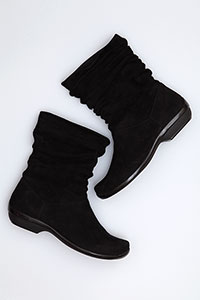 Olga Black Kid Suede