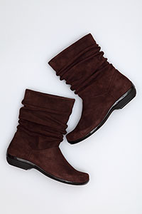 Olga Chocolate Kid Suede
