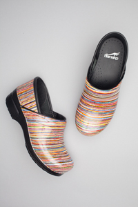 Professional/Rainbow Striped Patent