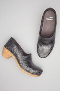 Marisol Pewter Metallic Croc