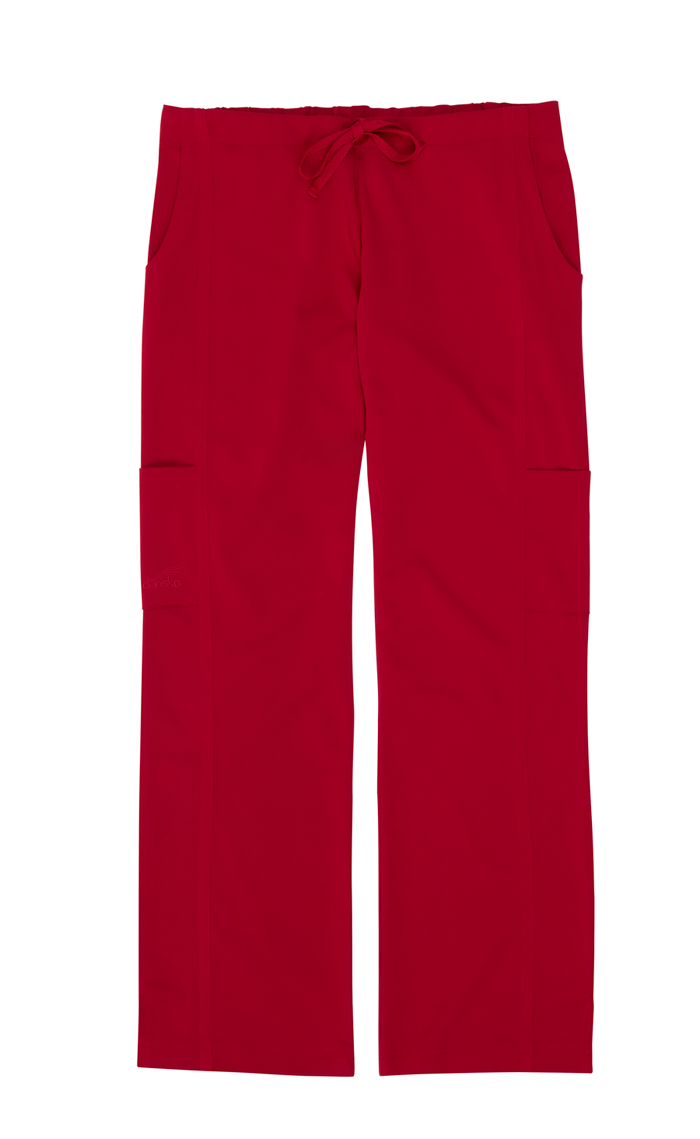 Gina Red Stretch Woven Tall